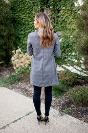 The Thompson Cocoon Coat (Grey/Black Plaid) FINAL SALE