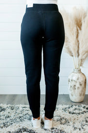 Brushed Fleece Joggers (Black)