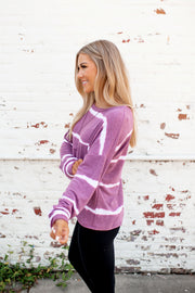 Blurred Lines Dolman Top (Berry)
