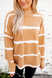 Blurred Lines Dolman Top (Mustard)