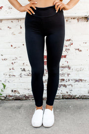 Nap Time Approved Knit Leggings (Black)