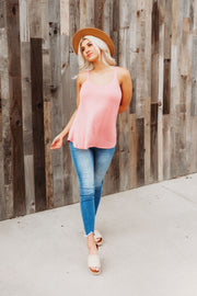 Go With The Flow Tank (Dusty Pink)