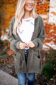 The Dolly Cardigan (Olive)
