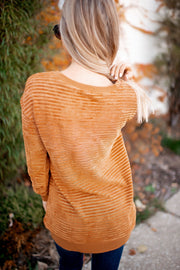 Smitten For You Striped Top (Buttercup)