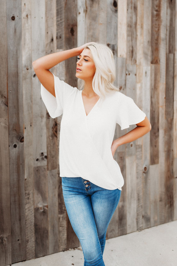 Breezy Babe Wrap Top (Ivory)