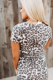 Mercedes Midi Dress (Leopard)