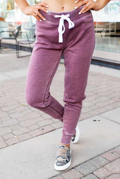 Burnout Fleece Joggers (Vintage Violet)