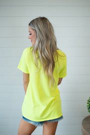 Can't Be Tamed Neon Tee (Yellow)
