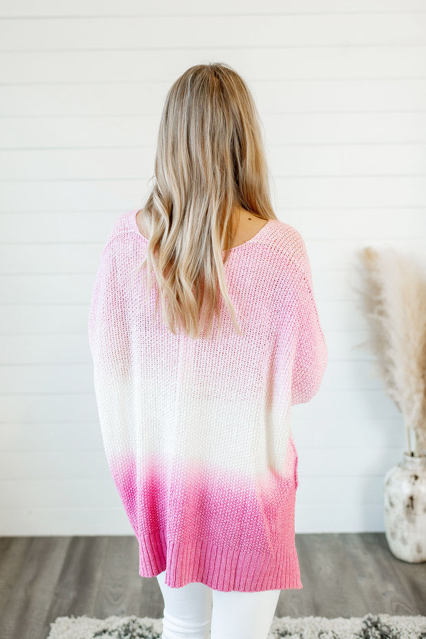 Pretty in Pink Sweater (Pink/Berry)