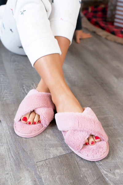 Fur Slippers (Pink)
