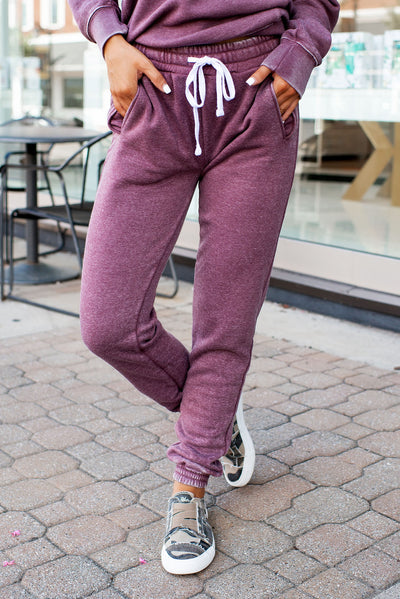 Burnout Fleece Sweatpants (Vintage Violet)