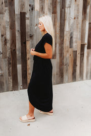 Maybe Someday Midi Dress (Black)