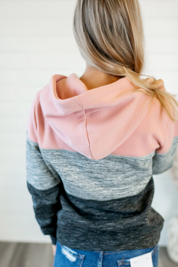 Cozy Nights Block Hoodie (Mauve Pink/Grey)