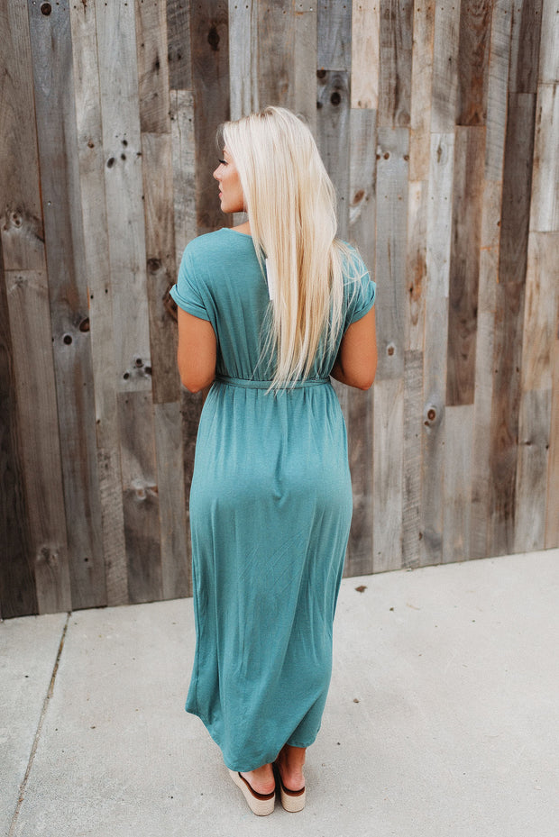 Maybe Someday Midi Dress (Sage)