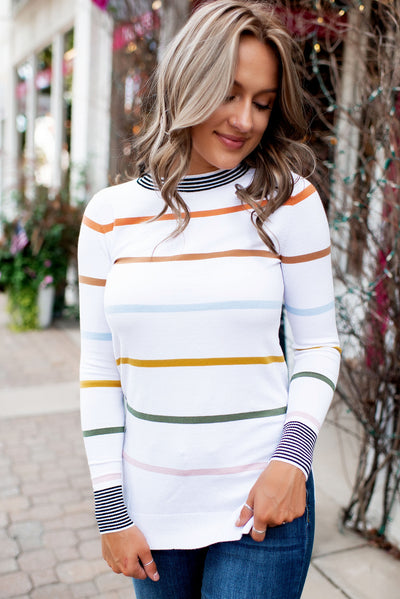 Ampersand Ave. Stripes on Stripes Sweater