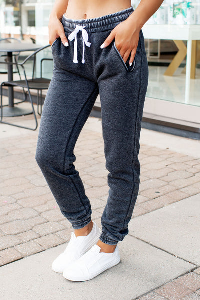 Burnout Fleece Sweatpants (Charcoal)