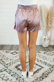 Satin Shorts (Misty Mauve)