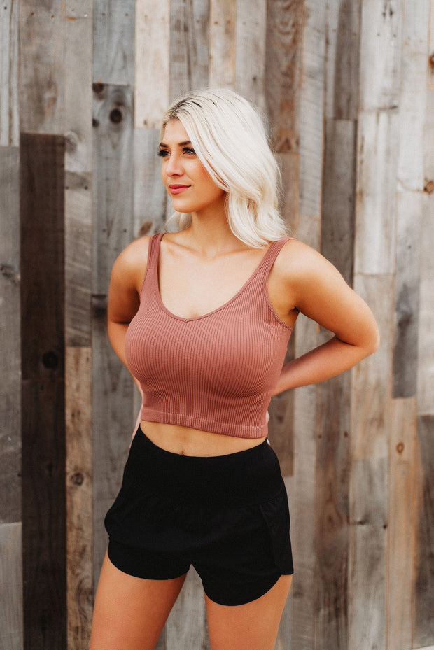 Ribbed Crop Tanks