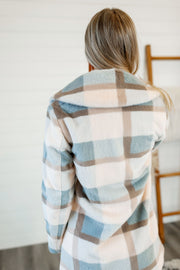 Z Supply Carmen Plaid Coat (Glacier)