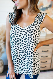 Sweet Beginnings Tank (Ivory/Black)