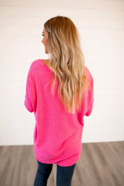 All The Good Things Sweater (Hot Pink)