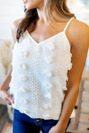 Shake It Like A Pom Pom Tank (Ivory)