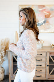 The Rosa Pom Pom Sweater (Mauve) FINAL SALE