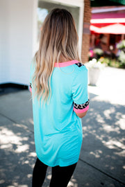 Bound In Leopard Top (Mint) FINAL SALE