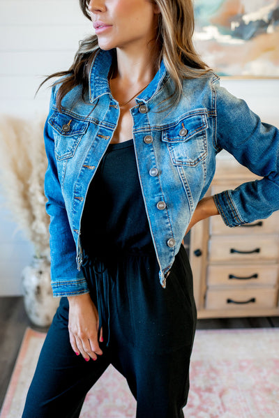 The Ollie Denim Jacket (Medium Wash)