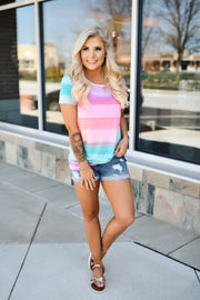Sweet Paradise Ombre Top (Fuchsia)