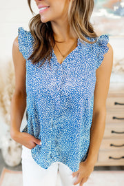 Setting The Stage Tank Blouse (Blue)