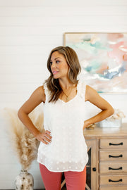 Sweet Beginnings Dotted Tank (Ivory)
