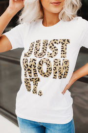 Just Mom It Graphic Tee (White)