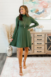 The Larsa Flare Dress (Olive)