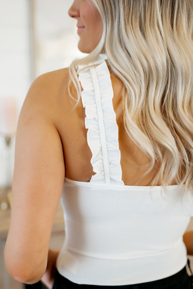 The Rosy Ruffle Bodysuit (Ivory)