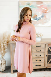 The Larsa Flare Dress (Mauve)