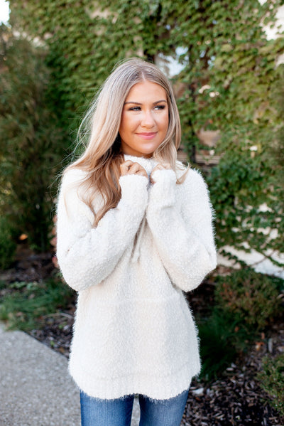 Enjoy The Show Popcorn Pullover (Ivory) FINAL SALE