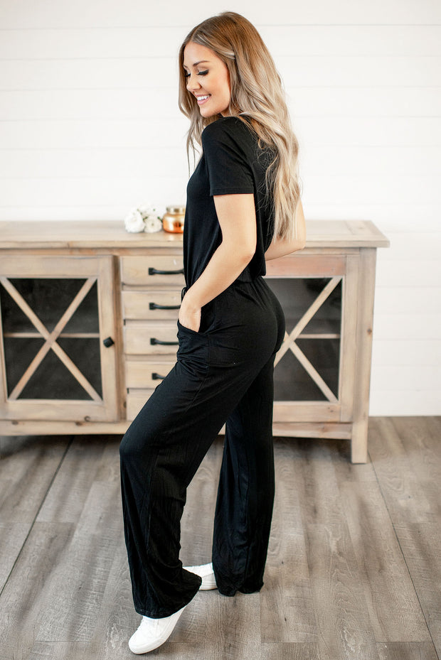 Crazy For Your Love Jumpsuit (Black)
