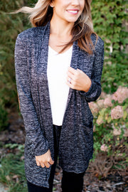 Totally Worth It Cardigan (Heathered Black)