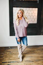 Slouchy Sweater (Mauve)