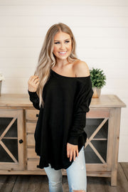 Meet In The Middle Sweater (Black) FINAL SALE