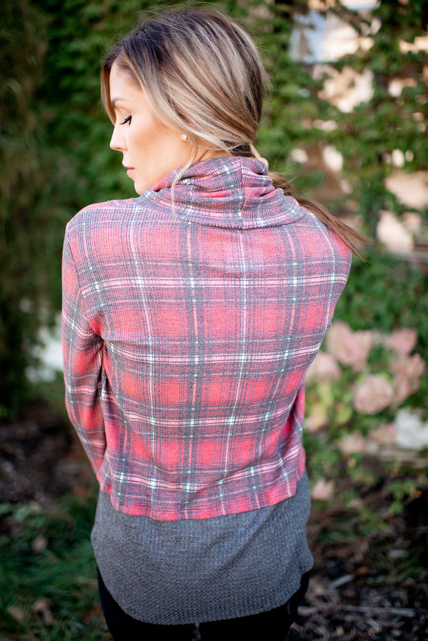 Plaid To Know You Top (Red)