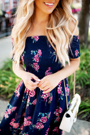 Grow Where You're Planted Dress (Navy)