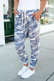 Camo Thermal Joggers (Grey)
