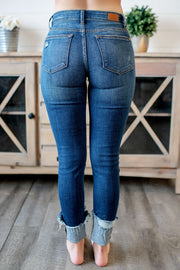 Judy Blue Gina Cuffed Skinnies