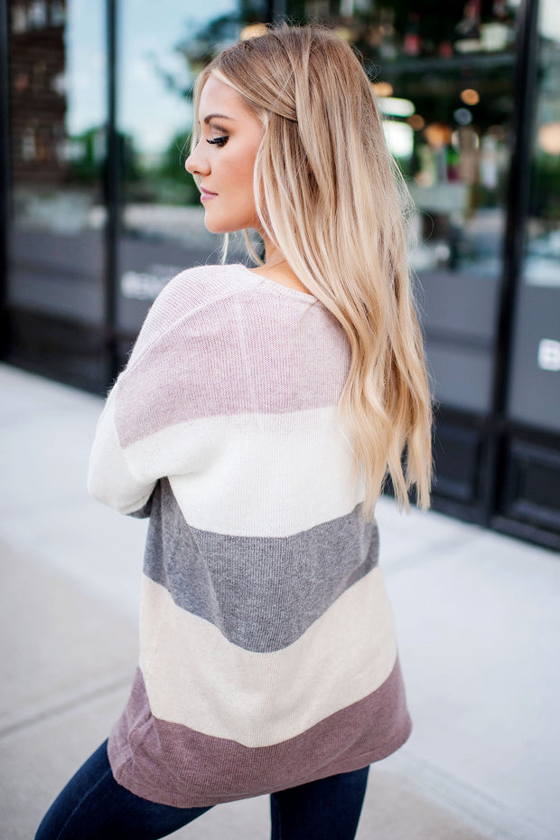 Crushing On You Knit Sweater (Plum)
