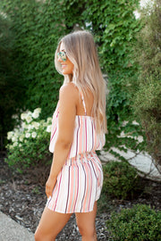 The Silo Striped Set (Salmon)
