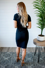 Mercedes Midi Dress (Black)