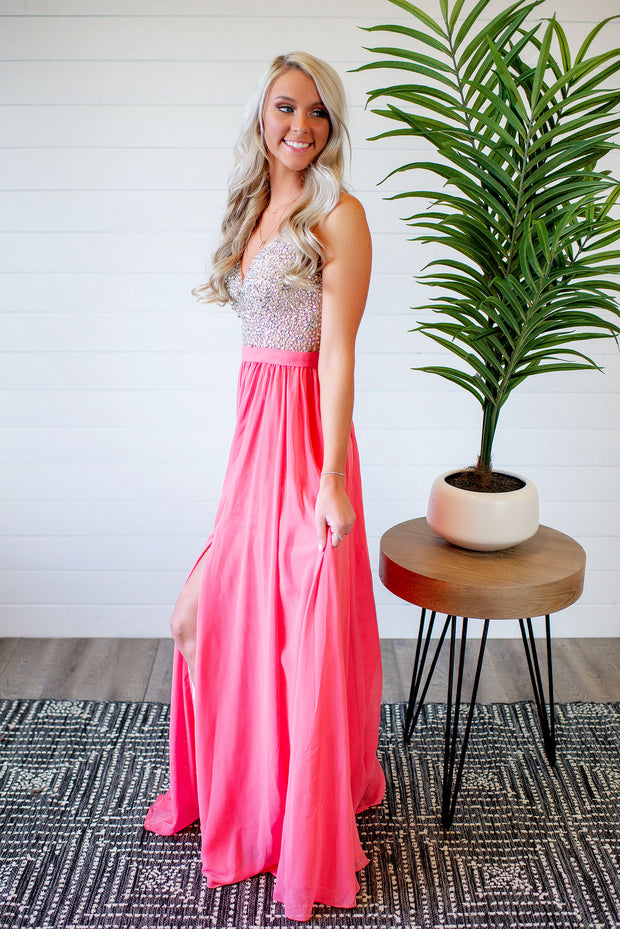 The Diana Gown (Coral)