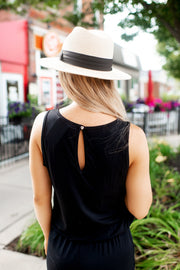 Back In Black Cuffed Jumpsuit